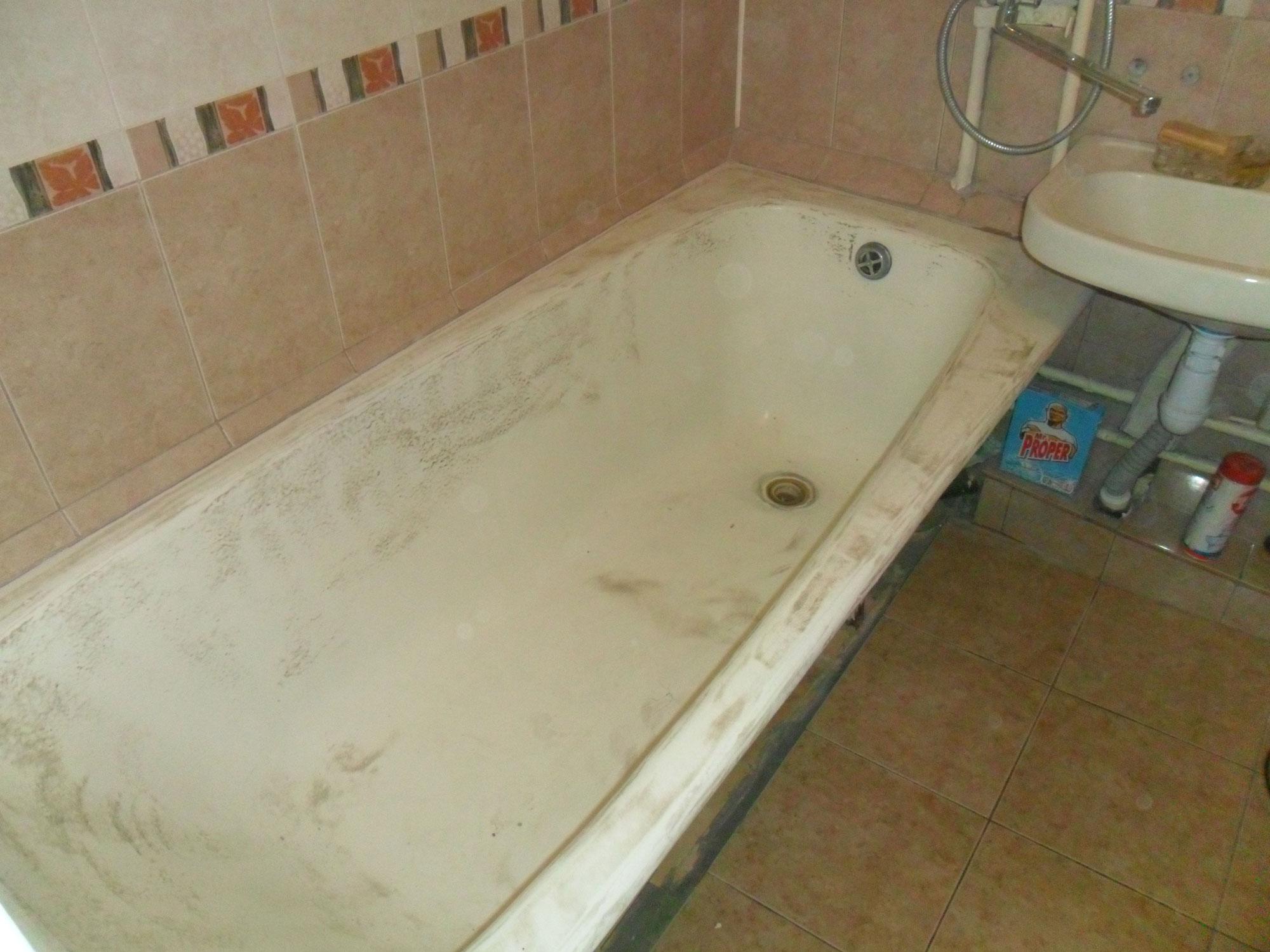 Реставрация ванн - фото №3 до