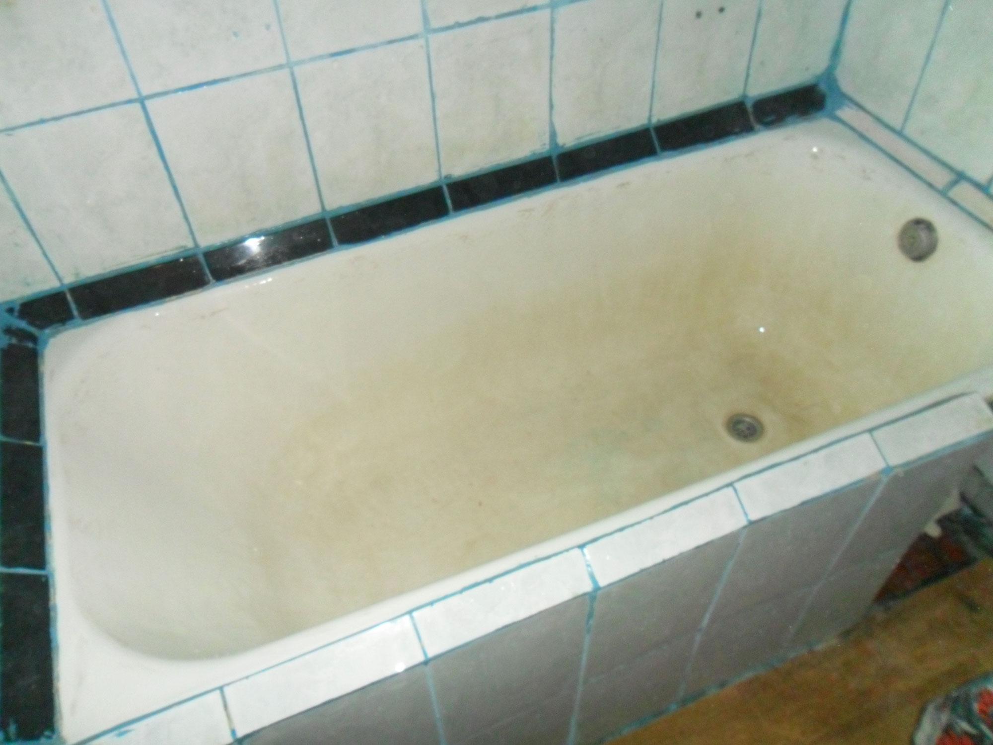 Реставрация ванн - фото №7 до